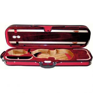 Geigenkasten Geigenetui rot rechteckig